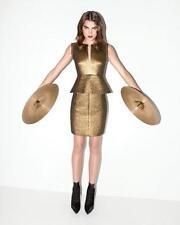 Diane von Furstenberg DVF Delian Clean Jacquard Gold Black Peplum Dress 6 $485