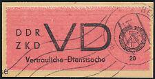 DDR-Dienst, MiNr. D 1 A I, sauber gestempeltes Briefstück, gepr. Paul, Mi. 75,-