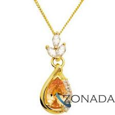 3 Shapes Simulated Diamond 9ct 9k Solid Yellow Gold Pendant