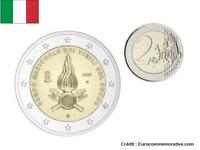 2 Euros Commémorative Italie 2020 Vigili Del Fuoco UNC