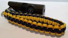 Customize Paracord Wrist Lanyard w/ 7 in 1 Emergency Whistle