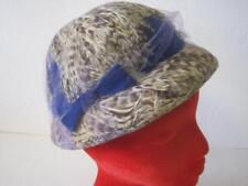 AWESOME VINTAGE FRANK PALMA ORIGINAL BLUE VIELD FEATHER WOMANS STAR LADY HAT