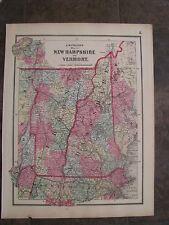 1864 Original Civil War Map of New Hampshire & Vermont