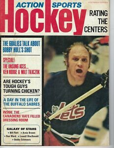 1973 Action Sports hockey magazine Bobby Hull, Winnipeg Jets FAIR WRITING