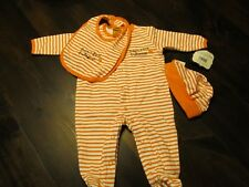 """Baby Halloween Coverall One Piece Hat Bib 3 Month """"Baby's First Halloween NEW"""