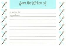 Whisk & Spatula Kitchen Utensils Lined Recipe Cards - New In Package - 10 Count