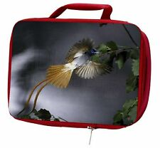 More details for humming bird insulated red school lunch box/picnic bag, ab-91lbr