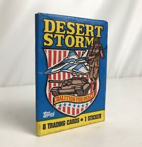 1991 Topps Desert Storm Edition Wax Pack Trading Cards 8 New-Old-Stock Unopened