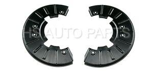 FOR AUDI Q7 VW TOUAREG FRONT BRAKE DISC DUST COVER SHIELDS SPLASH GUARDS PAIR
