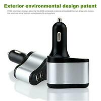 12V-24V Dual USB Car Cigarette Lighter Socket Splitter Charger Power Adapter