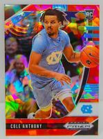 Cole Anthony RC 2020-21 Red Cracked Ice Prizm Draft Picks Rookie Card 9 Magic SP