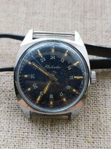 Vintage watch USSR RAKETA  mens 24 hours mechanical 2609HA Working condition