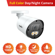 SANNCE 1080P HD Full Color Night Vision Outdoor CCTV 2MP 3D DNR Security Camera