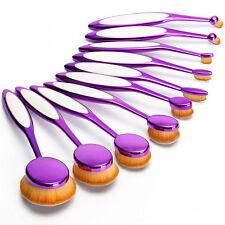 10pcs Set Pro Makeup Brushes Lip Eyeshadow Fpundation Cosmetics Purple Kit Tools