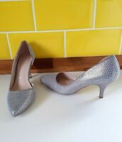 Worn Once Carvela Kurt Geiger Kane Silver Diamante Embellished Heels UK 6 Jewel