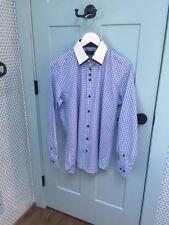 Domani Blue Luxe Men's Light Blue Button-down Dress Shirt, size M, 15-32/33