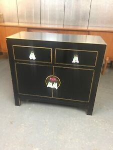 Qing Oriental Chinese Chest Cabinet Sideboard by Nine Schools RRP £425 M4187A