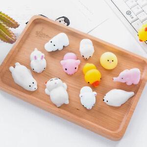 Cute 3D Mochi Squishy Squeeze Healing Fun Kids Kawaii Toy Stress Reliever Decor