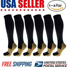 Copper Compression Socks 20-30mmHg Graduated Support Men Women S-XXL
