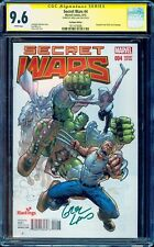 SECRET WARS (2015) # 4 Hastings Edition Variant Cover CGC 9.6 SS Greg Land