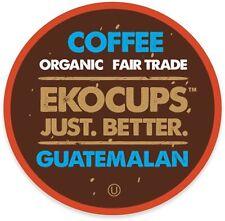 EkoCups Artisan Organic Guatemalan Coffee 40 to 160 Keurig K cups Pick Any Size