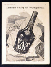 VAT 69 1955 Scotch Blended Whisky BRITISH ADVERT