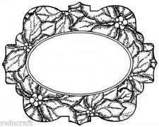 POINSETTIA MEDALLION Pre-Cut Rubber Stamps to Die For SUE WILSON UMS636 Reduced