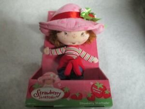 2002 Strawberry Shortcake Ban Dai Berry Soft Friend Rag Doll Plush Sweater