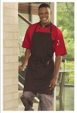 """Bib Apron, Pocket, Color: Black & Red Pinstripe, Size: 23""""W x 34""""L - 3018"""