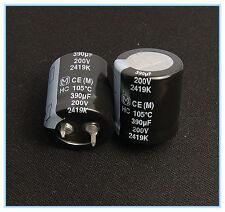 (2pcs) 390uf 200v Radial Electrolytic Capacitor Panasonic HC Snap-In 200v390uf
