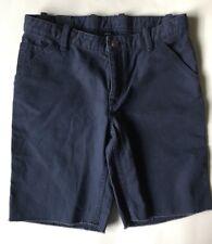 Gap Kids Boys Shorts 14 Navy Blue Fray Raw Edge Hem New Casual Walking Uniform