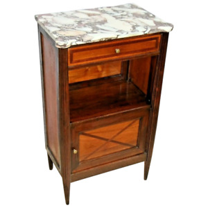 Vintage Art Deco Bar Cabinet with Italian Marble Top and very rare Ice Box