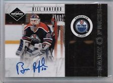 11/12 Panini Limited Bill Ranford Game Pucks Auto #'ed 17/20
