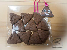 Emoji Mini poop chocolates 3 x bags (of 10).party bags. poop tag. gift