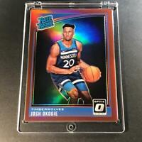 JOSH OKOGIE 2018 DONRUSS OPTIC #194 RED PRIZM REFRACTOR RATED ROOKIE RC #'D /99