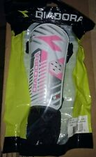 New Diadora Fulmine Shinguards Large Shin Guards White Pink