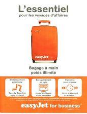 Publicité Advertising 029  2010    compagnie aérienne EasyJet