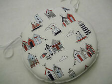 BEACH HUT CIRCULAR ZIP OFF LUXURIOUS SEAT PADS SUITABLE FOR KITCHEN/DINING ROOM