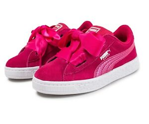 Puma Suede Heart SNKLove Potion Hot Pink 364920 03 Infant Baby Sneakers
