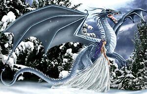 Ice Dragon 1000 Piece Jigsaw Puzzle Nene Thomas Sunsout fantasy goddess fairy