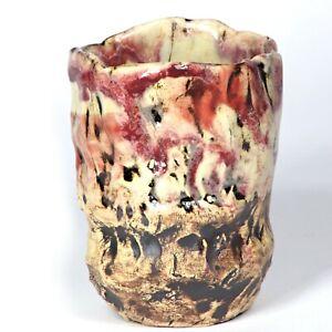 """Sculpture mug """"Lascaux cave"""" 10cm b3 Unique ceramic Andreas Loeschner-Gornau"""