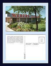 MICHIGAN ANN ARBOR WEBERS SUPPER CLUB RESTAURANT US ROUTE 12 POSTCARD CIRCA 1950