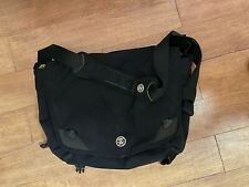 Crumpler The Cashmere Blazer Black and Green Laptop Messenger Bag