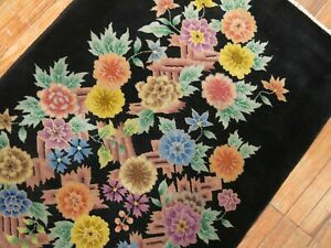 Antique Chinese Art Deco Rug Size 2'11''x5'6''