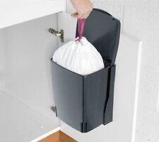 Brabantia Kitchen Cupboard Bin 10L Rectangular Black Folding Lid Plastic
