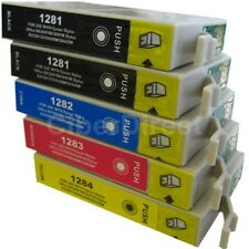 5 CiberDirect T1281 T1282 T1283 T1284 Ink Cartridges to fit Epson Printers