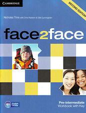 CAMBRIDGE face2face Pre-Intermediate B1 SECOND EDITION Workbook with Key @NEW@