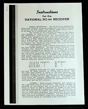 National NC-44 NC44 Radio Receiver Manual