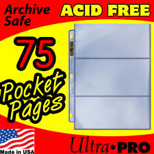 3 POCKET CURRENCY COUPON STORAGE REFILL PAGES 75