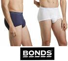 MENS BONDS WHITE NAVY 3 PACK COTTON BRIEFS BRIEF SUPPORT UNDIES UNDERWEAR SPORT
